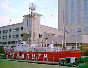 The Portsmouth ship yard. A popular tourist attraction not far from the U. S. Amines plant.